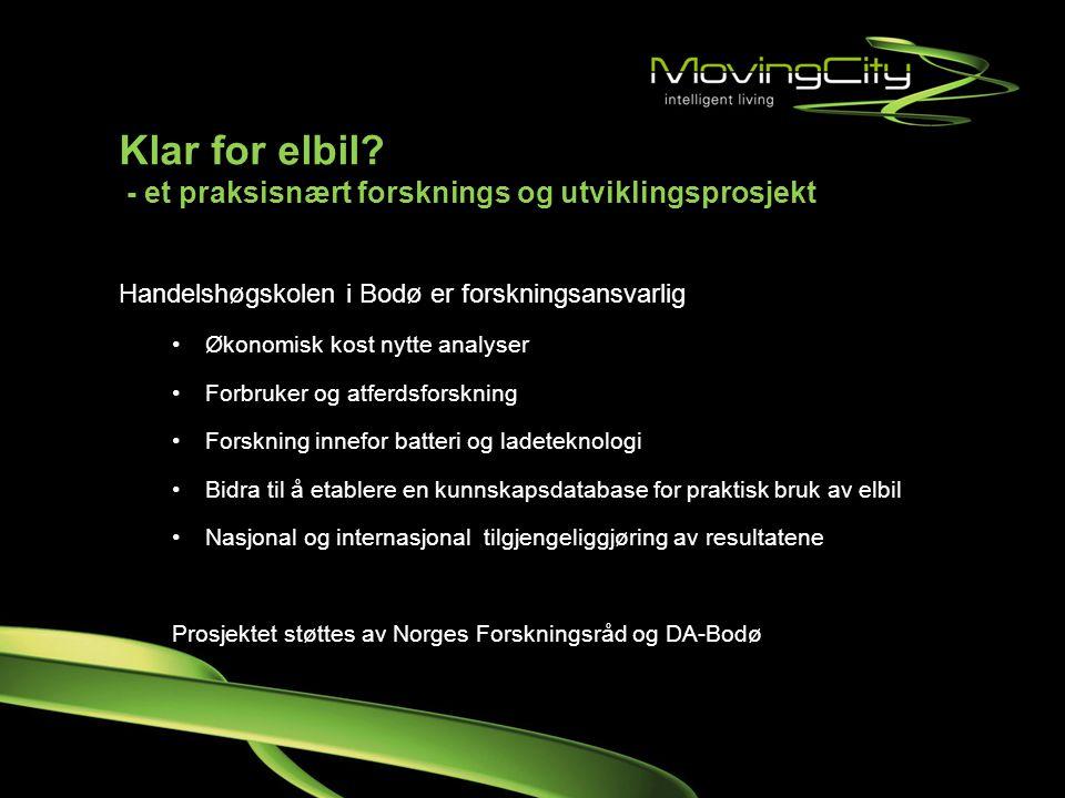 Klar for elbil - et praksisnært forsknings og utviklingsprosjekt