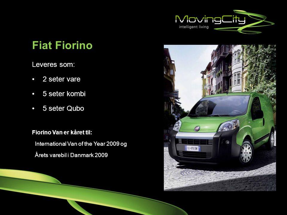 Fiat Fiorino Leveres som: 2 seter vare 5 seter kombi 5 seter Qubo