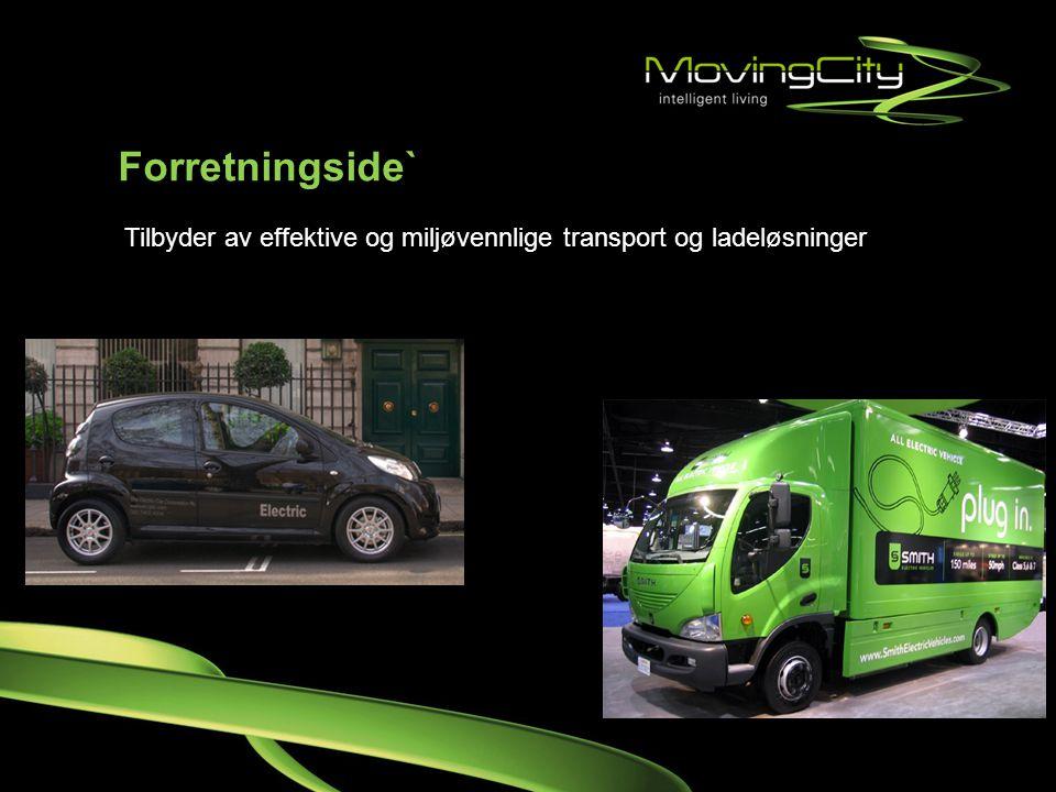 Forretningside` Tilbyder av effektive og miljøvennlige transport og ladeløsninger