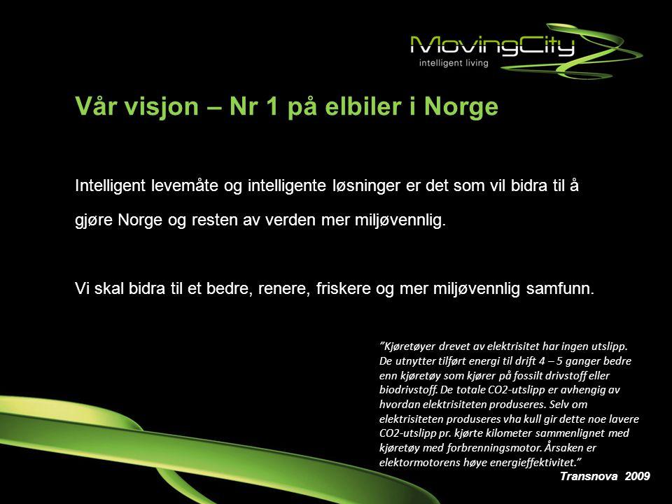 Vår visjon – Nr 1 på elbiler i Norge