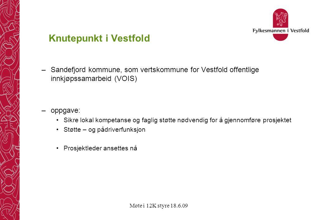 Knutepunkt i Vestfold Sandefjord kommune, som vertskommune for Vestfold offentlige innkjøpssamarbeid (VOIS)