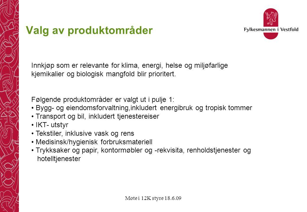 Valg av produktområder