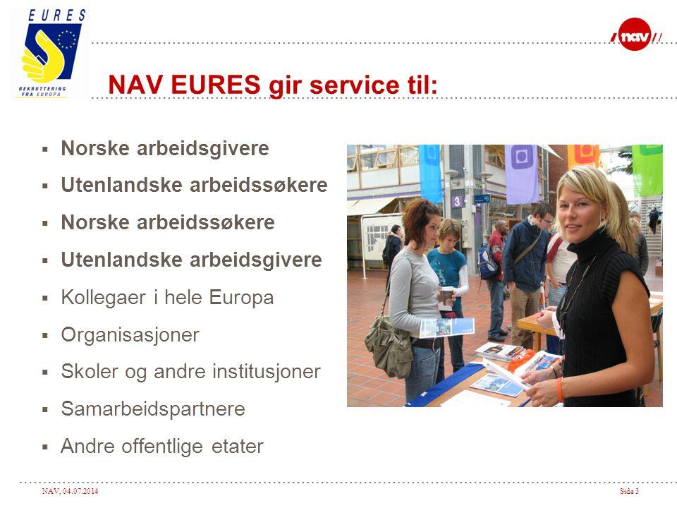 NAV EURES gir service til: