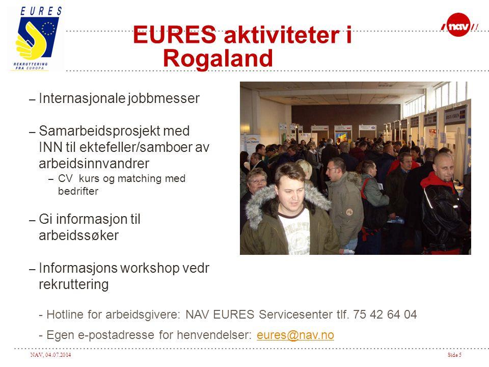 EURES aktiviteter i Rogaland