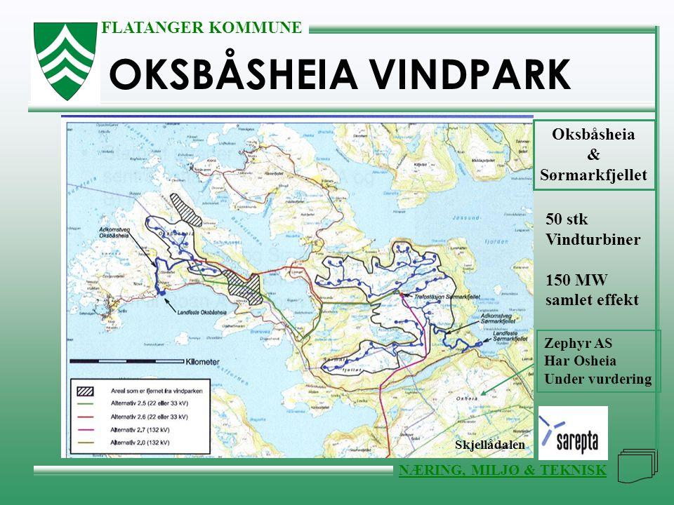 OKSBÅSHEIA VINDPARK Oksbåsheia & Sørmarkfjellet 50 stk Vindturbiner