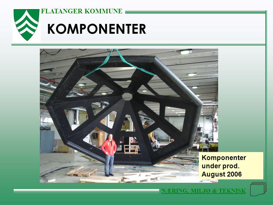 KOMPONENTER Komponenter under prod. August 2006