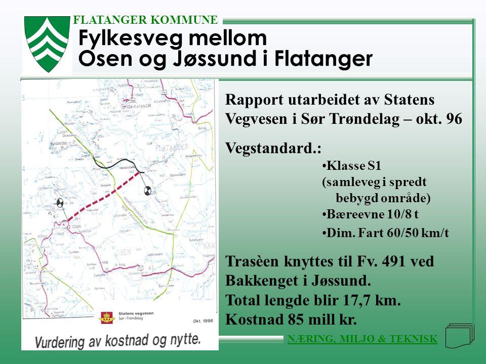 Fylkesveg mellom Osen og Jøssund i Flatanger