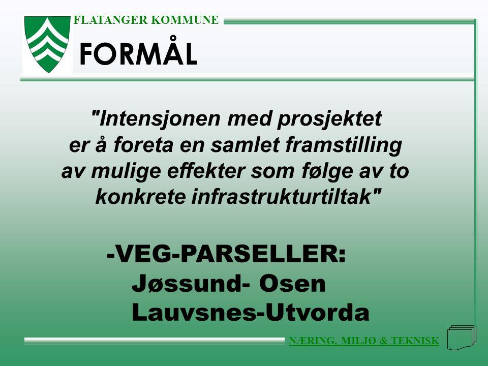 FORMÅL VEG-PARSELLER: Jøssund- Osen Lauvsnes-Utvorda