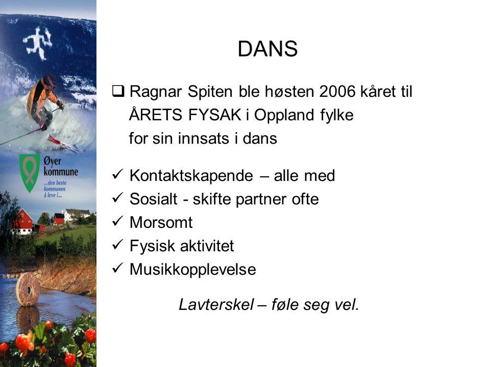 DANS Ragnar Spiten ble høsten 2006 kåret til