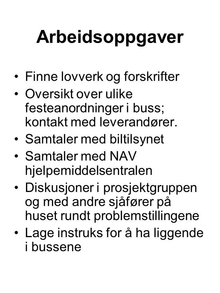 Arbeidsoppgaver Finne lovverk og forskrifter