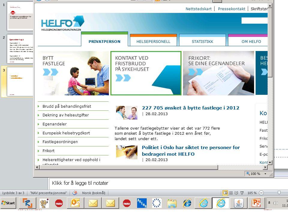 www.helfo.no www.pasientreiser.no