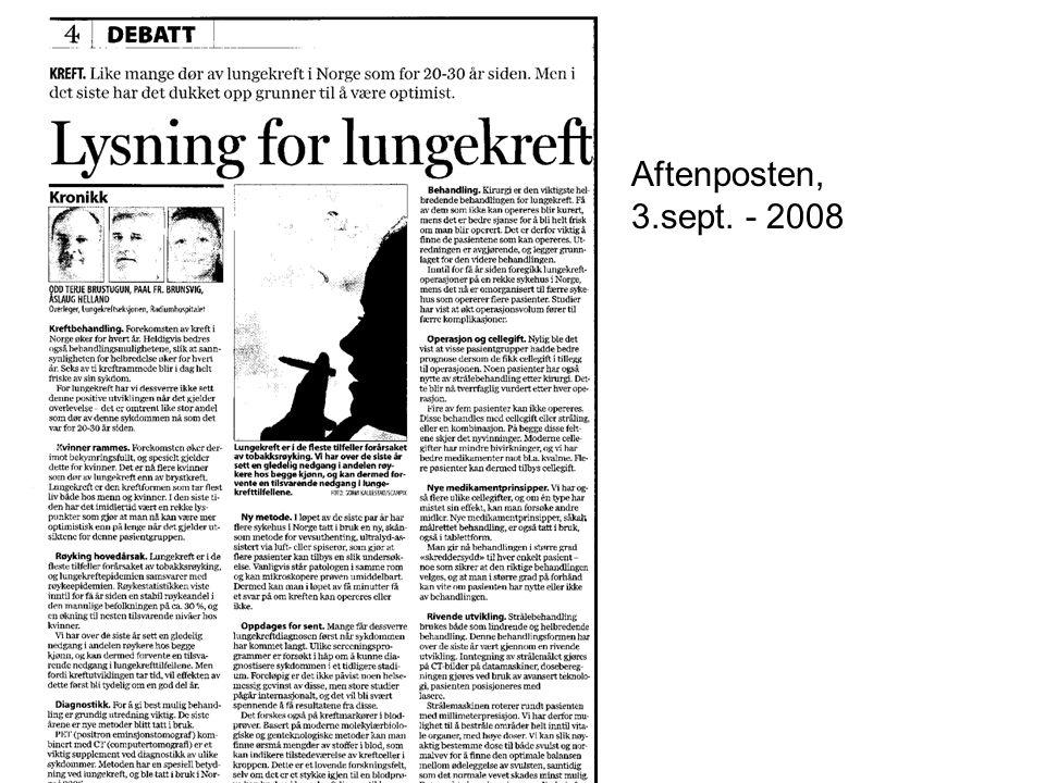 Aftenposten, 3.sept. - 2008