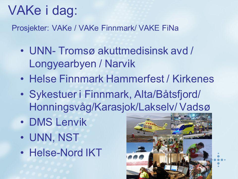 VAKe i dag: Prosjekter: VAKe / VAKe Finnmark/ VAKE FiNa