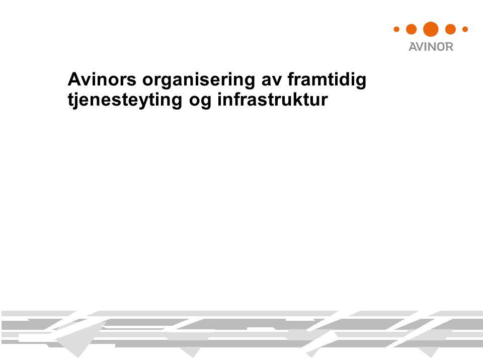 Avinors organisering av framtidig tjenesteyting og infrastruktur