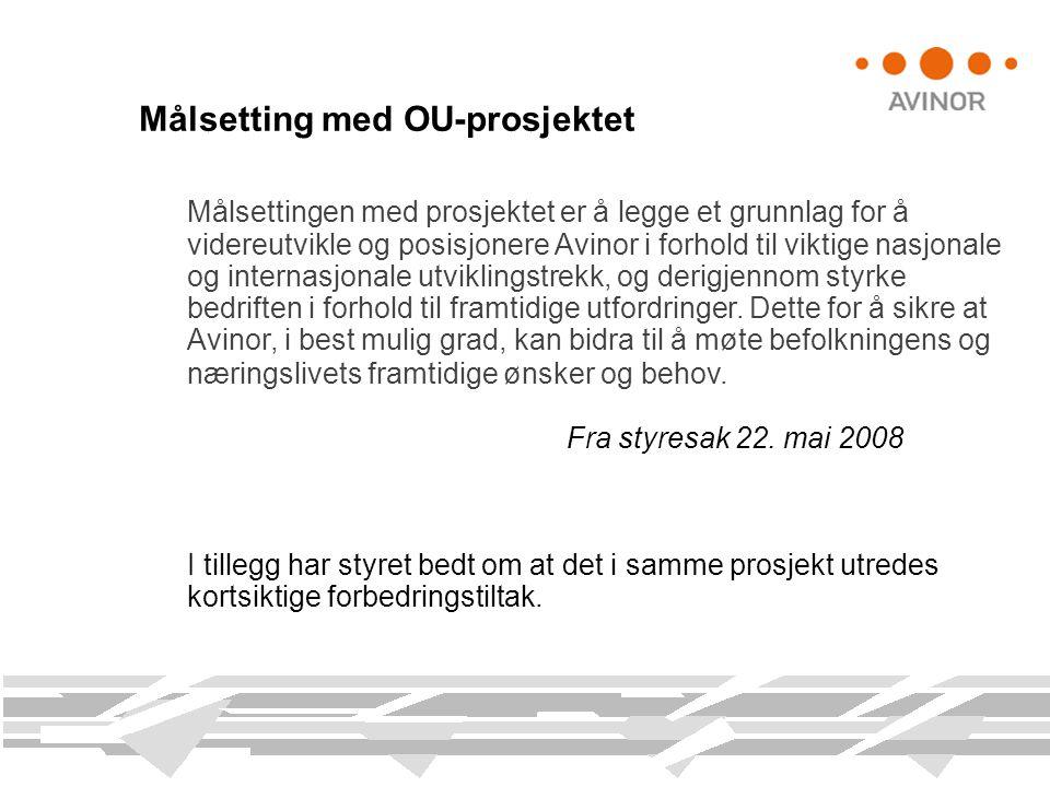 Målsetting med OU-prosjektet