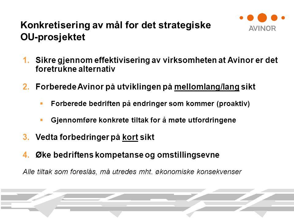 Konkretisering av mål for det strategiske OU-prosjektet