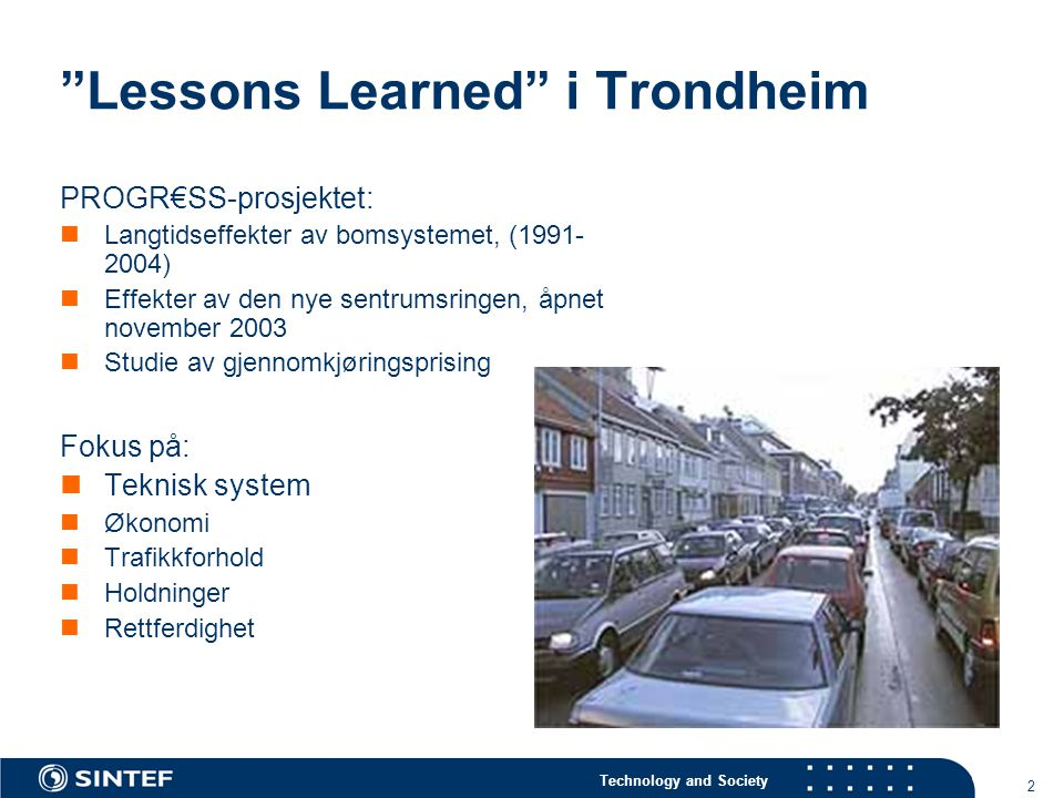 Lessons Learned i Trondheim