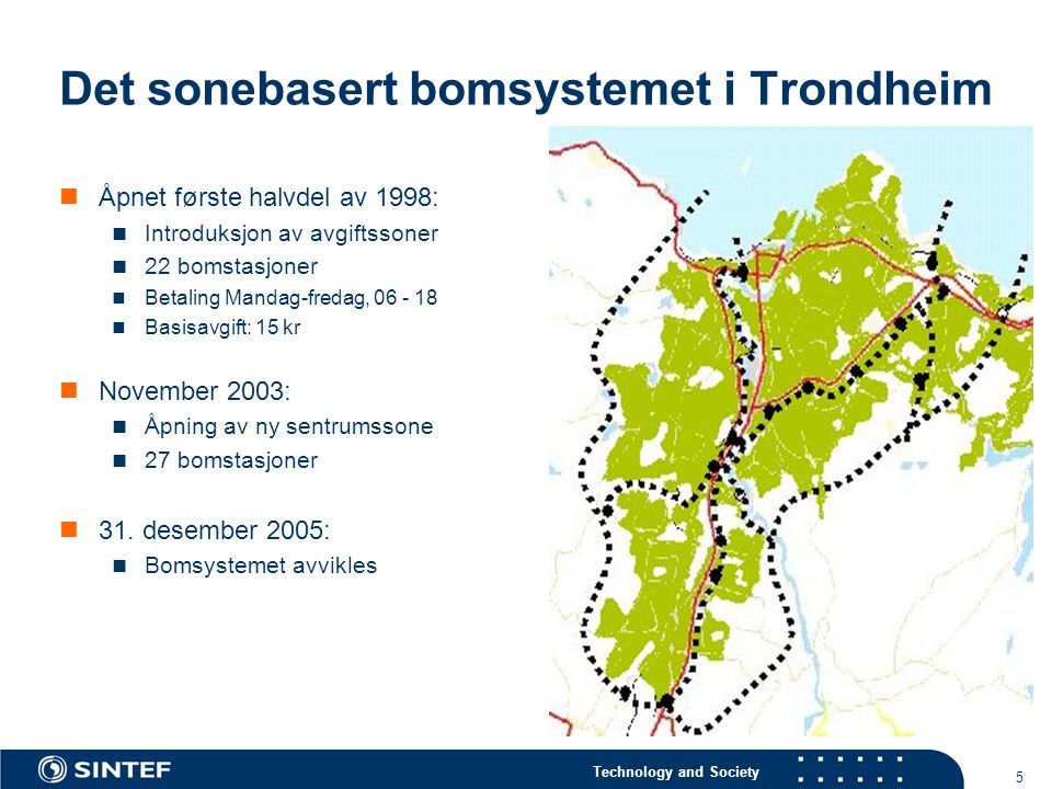 Det sonebasert bomsystemet i Trondheim