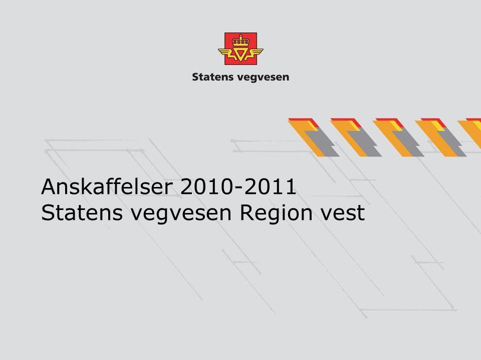 Anskaffelser 2010-2011 Statens vegvesen Region vest