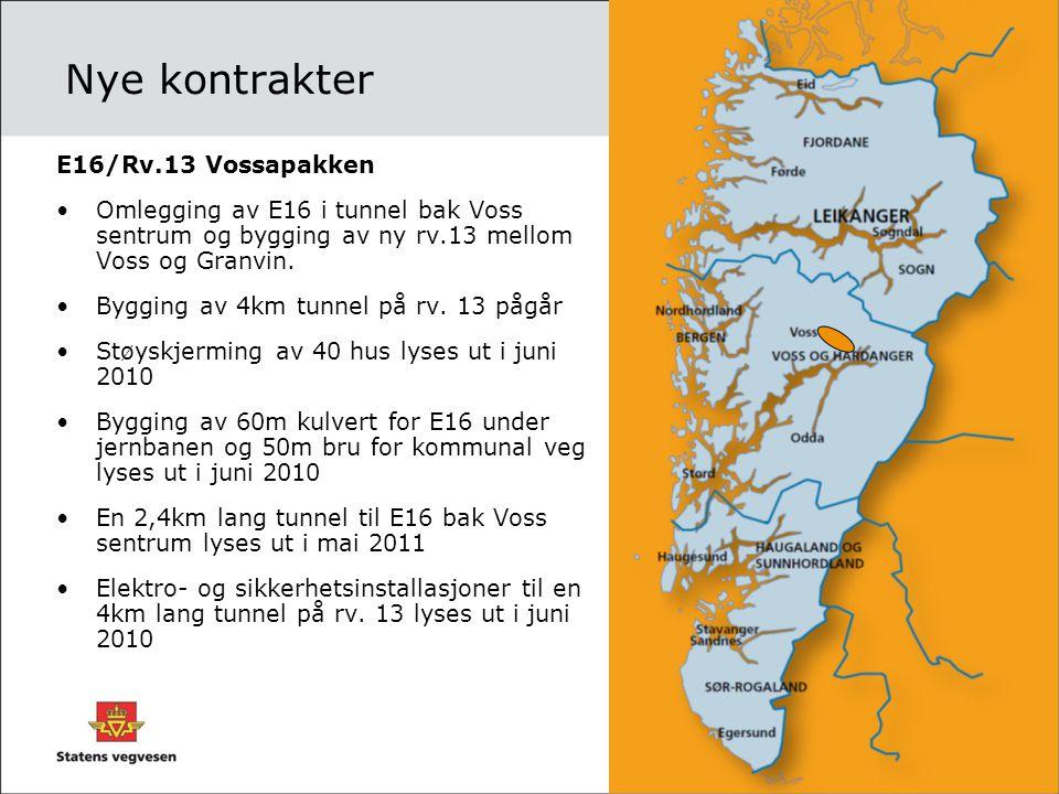 Nye kontrakter E16/Rv.13 Vossapakken