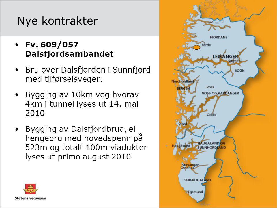 Nye kontrakter Fv. 609/057 Dalsfjordsambandet