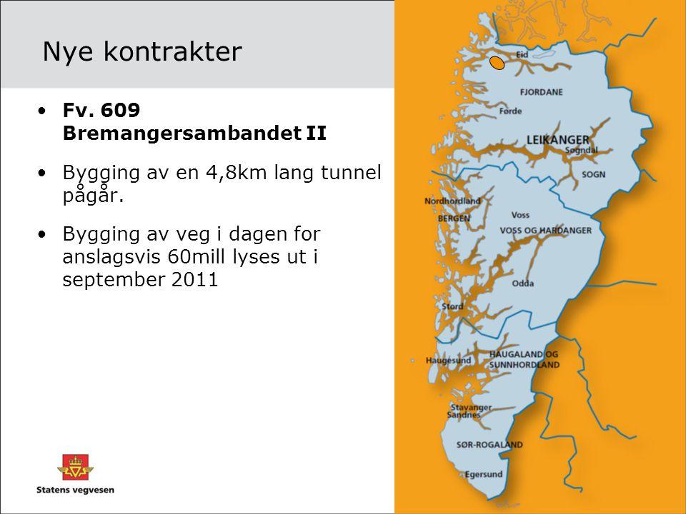 Nye kontrakter Fv. 609 Bremangersambandet II