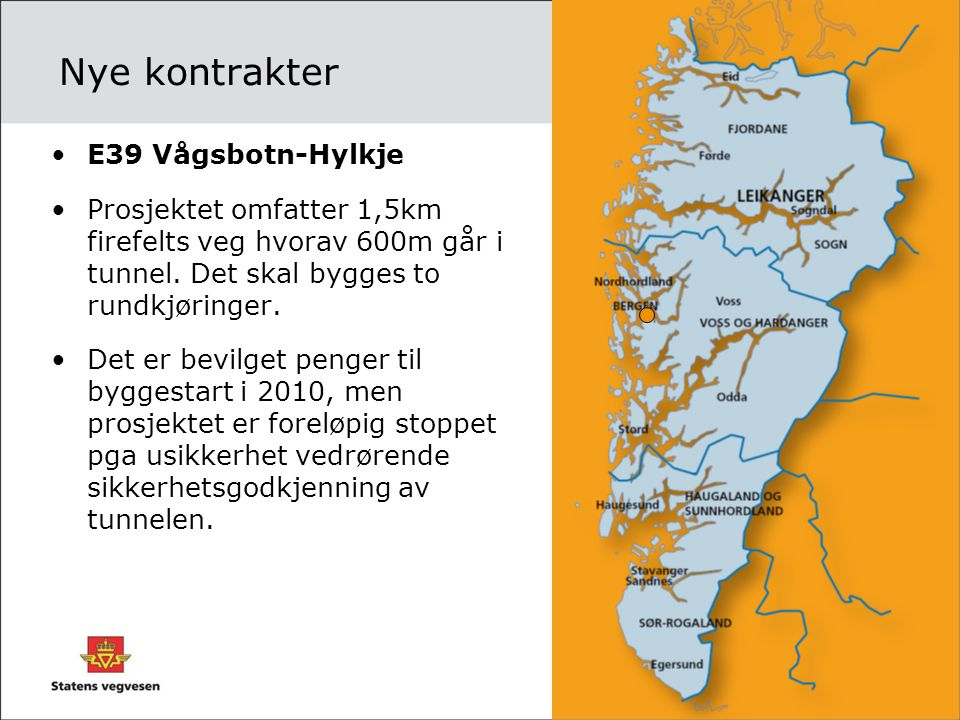 Nye kontrakter E39 Vågsbotn-Hylkje