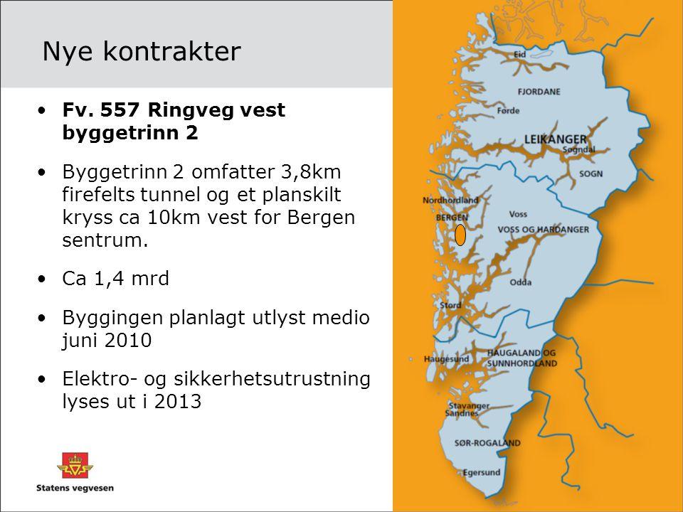 Nye kontrakter Fv. 557 Ringveg vest byggetrinn 2