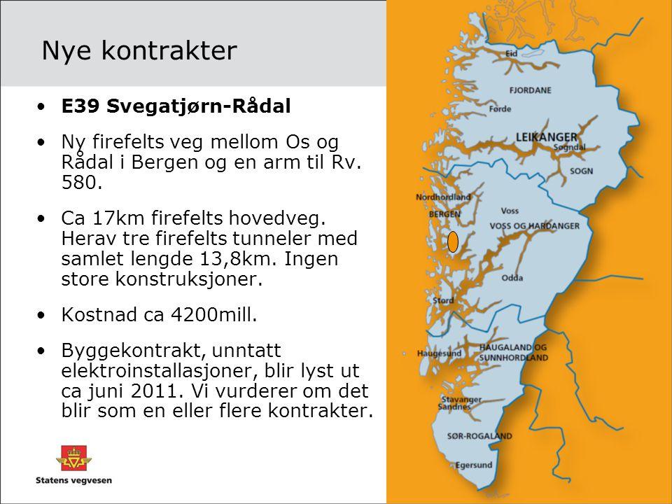 Nye kontrakter E39 Svegatjørn-Rådal