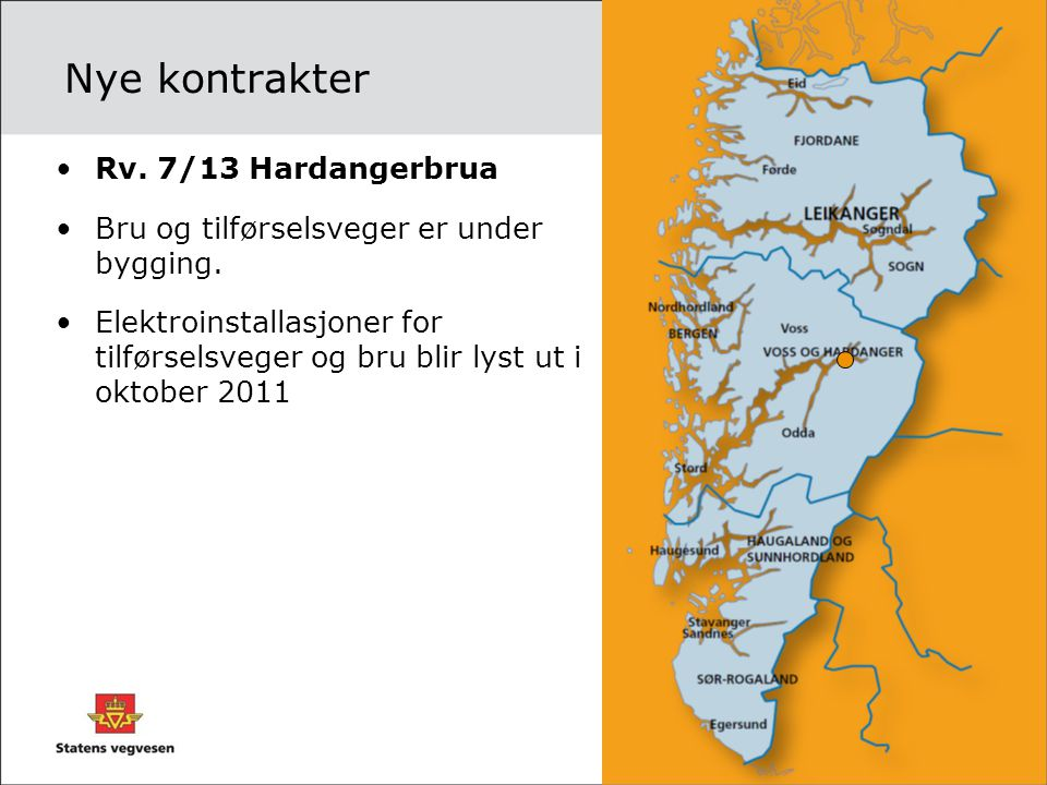 Nye kontrakter Rv. 7/13 Hardangerbrua