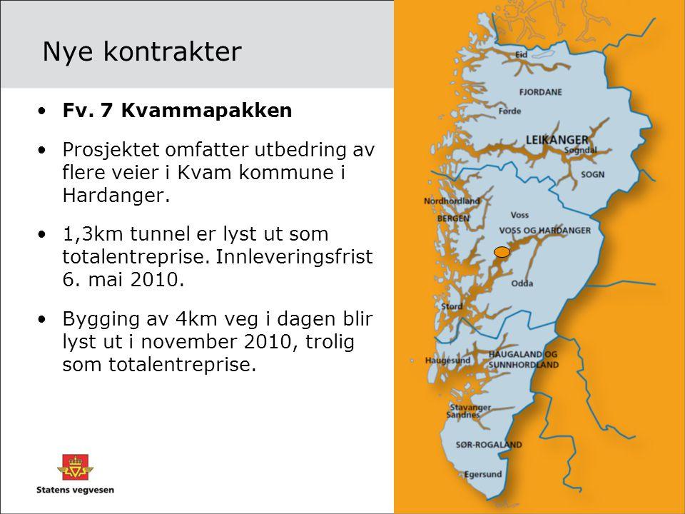 Nye kontrakter Fv. 7 Kvammapakken