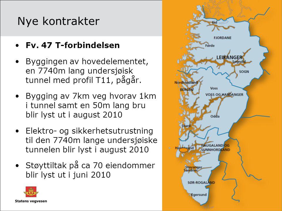 Nye kontrakter Fv. 47 T-forbindelsen
