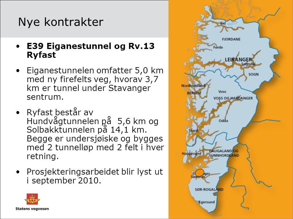 Nye kontrakter E39 Eiganestunnel og Rv.13 Ryfast
