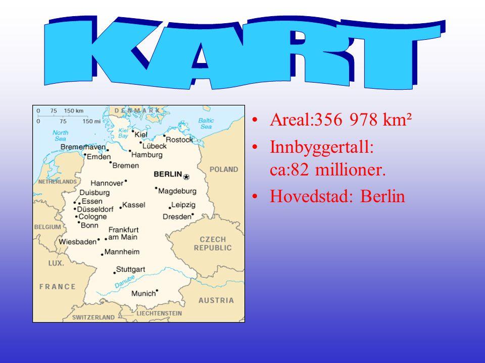 KART Areal:356 978 km² Innbyggertall: ca:82 millioner.