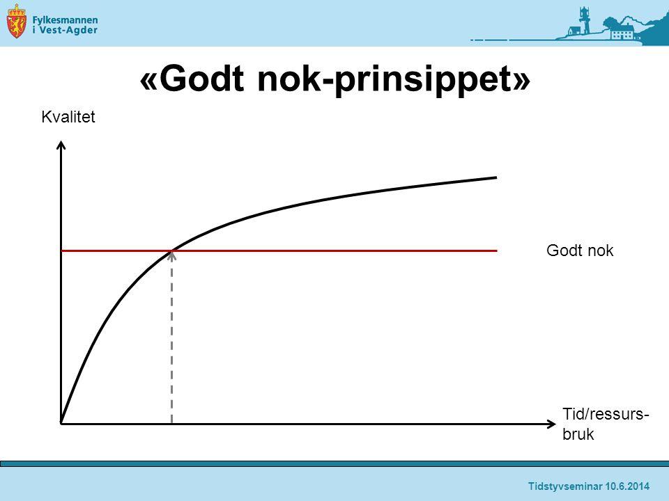 «Godt nok-prinsippet»