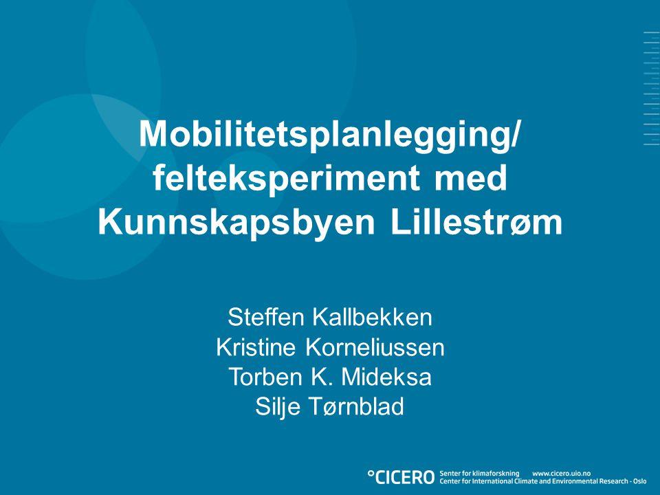 Mobilitetsplanlegging/ felteksperiment med Kunnskapsbyen Lillestrøm