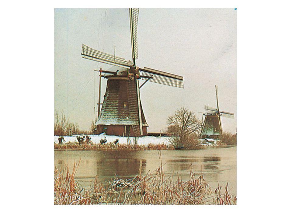 Vinddrevet konmølle fra Nederland