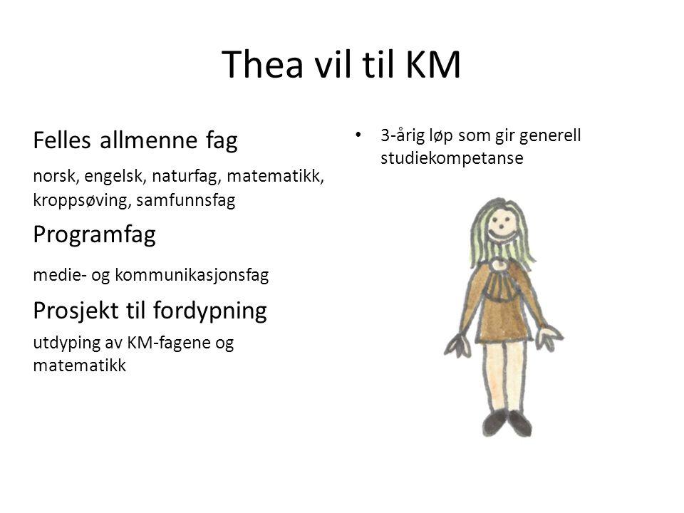 Thea vil til KM Felles allmenne fag Programfag