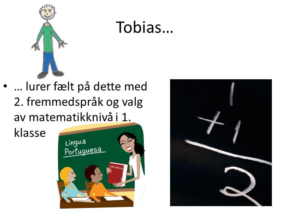 Tobias… … lurer fælt på dette med 2. fremmedspråk og valg av matematikknivå i 1. klasse