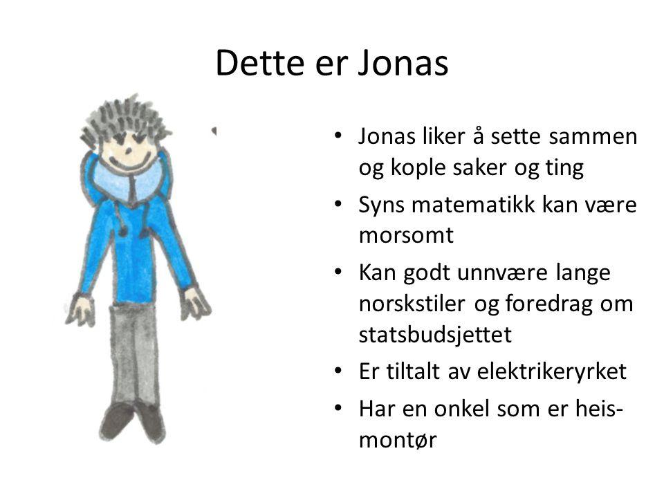Dette er Jonas Jonas liker å sette sammen og kople saker og ting