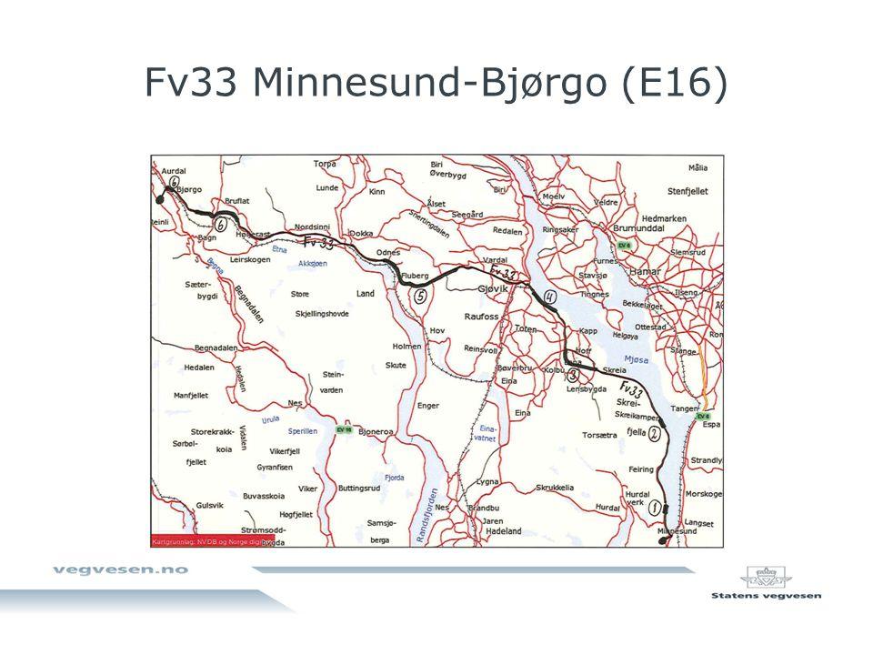 Fv33 Minnesund-Bjørgo (E16)