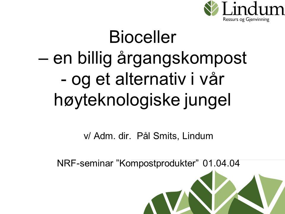 v/ Adm. dir. Pål Smits, Lindum NRF-seminar Kompostprodukter 01.04.04