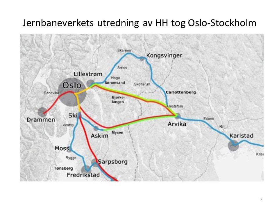 Jernbaneverkets utredning av HH tog Oslo-Stockholm