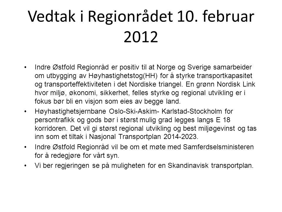 Vedtak i Regionrådet 10. februar 2012