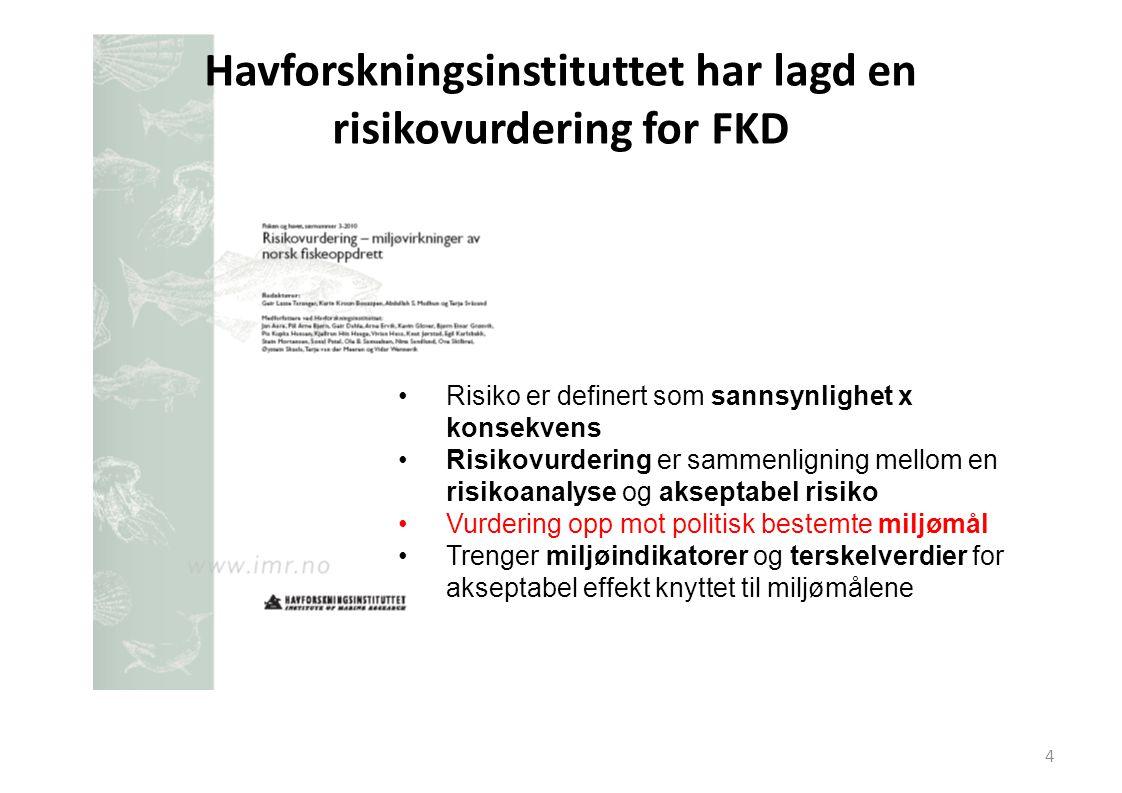 Havforskningsinstituttet har lagd en risikovurdering for FKD
