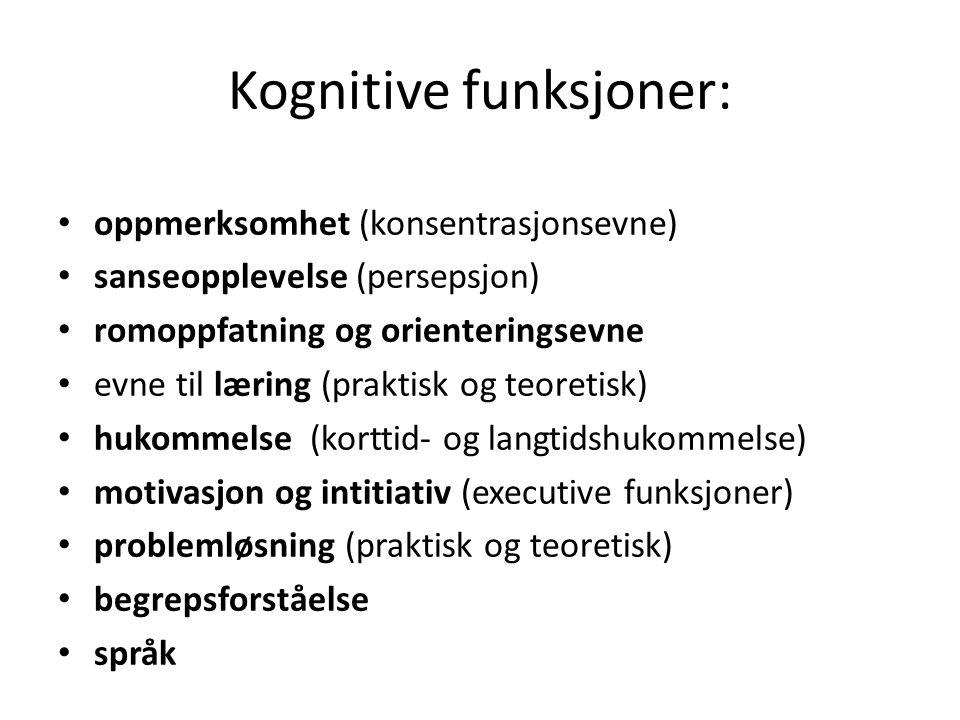 Kognitive funksjoner: