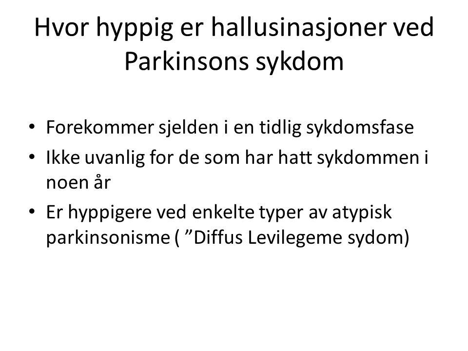 Hvor hyppig er hallusinasjoner ved Parkinsons sykdom