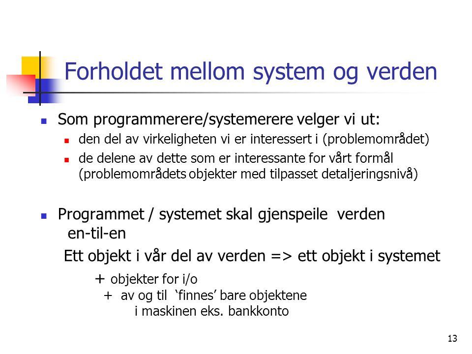 Forholdet mellom system og verden