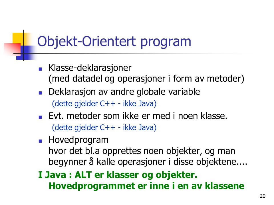 Objekt-Orientert program