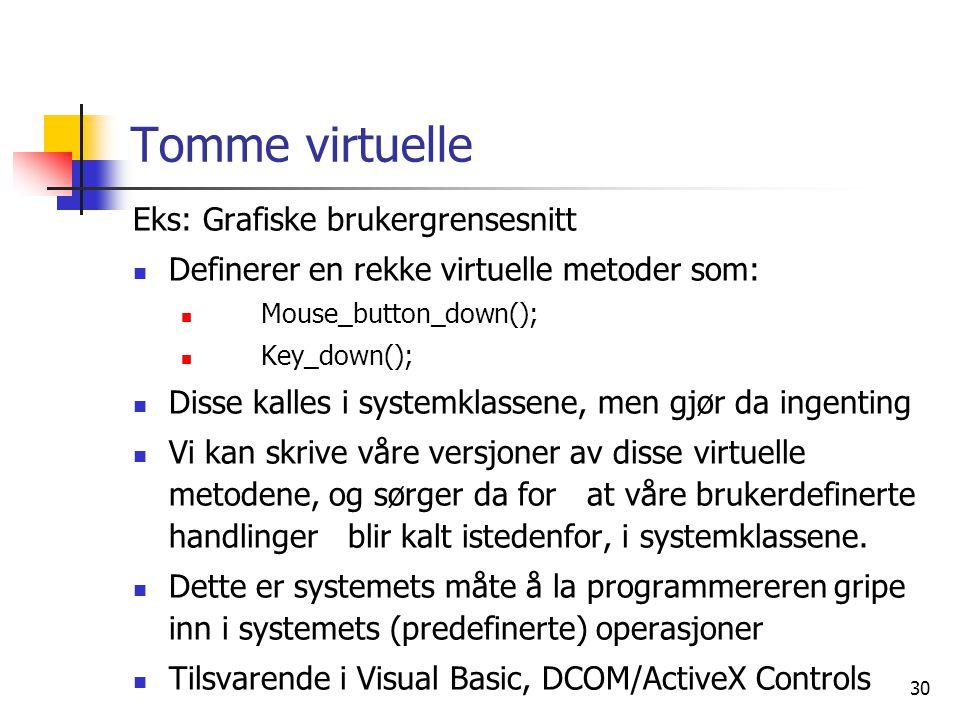 Tomme virtuelle Eks: Grafiske brukergrensesnitt